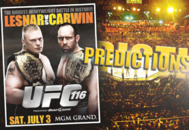 UFC 116 Predictions