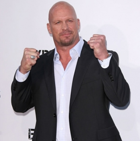 HUSTLE EXCLUSIVE! Steve Austin Arrives On The Red Carpet For The Premiere of The Expendables!