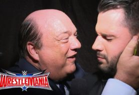 Paul Heyman Celebrates Brock Lesnar's Victory ... By Kissing Tom Phillips ... TWICE!