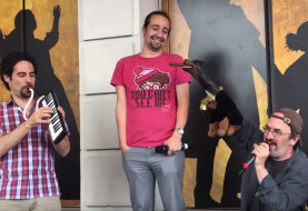 Lin-Manuel Miranda Assaulted By Triumph The Insult Comic Dog