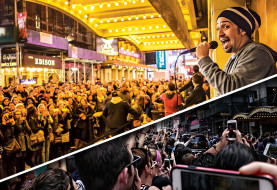 Lin-Manuel Miranda Says The Fan Frenzy Outside The Richard Rodgers Theatre Have Made It Unsafe To Leave The Building