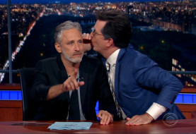 Jon Stewart Celebrates The 20th Anniversary of The Daily Show ... By Doing What He Does Best