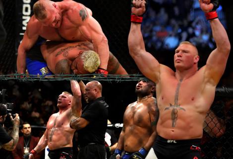 Brock Lesnar Conquers Mark Hunt at UFC 200