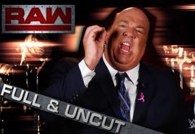 Full Unedited WWE Monday Night RAW Segment Featuring Paul Heyman's Live Via Satellite Interview