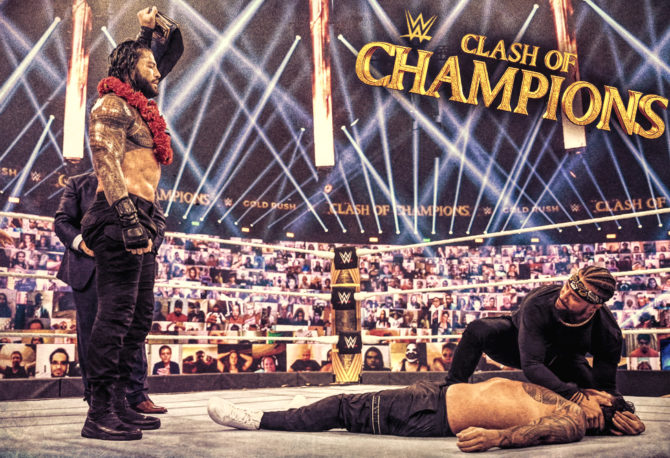 Roman Reigns as The Tribal Chief at WWE Clash of Champions