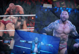 Hustle Photo Book: Triple H Defeats Batista in a No Holds Barred Match at WrestleMania 35