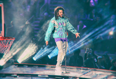 J. Cole Electrifies the NBA All-Star Game Halftime Show