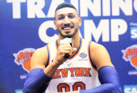 Enes Kanter Steals the Show at the Knicks Press Conference Like a True #PaulHeymanGuy