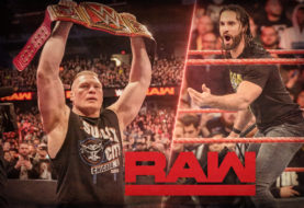 Brock Lesnar Returns to WWE Monday Night RAW in Chicago … and is Welcomed Back By Drew McIntyre and Seth Rollins