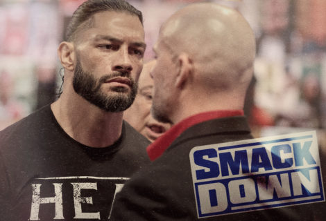 Roman Reigns Restrained From Smashing Adam Pearce on WWE Smackdown