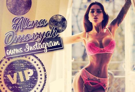 Alena Omovych Owns Instagram