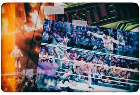 Hustle Photo Book: Paul Heyman Interrupts Hulk Hogan … But Seth Rollins Slays The Beast at WrestleMania 35